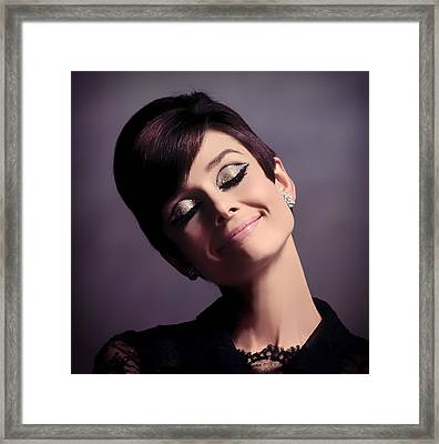 Audrey Hepburn Framed Print by Mountain Dreams