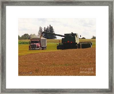 August Harvest Framed Print by J McCombie