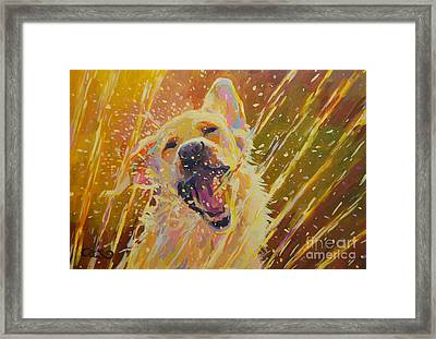 August Framed Print by Kimberly Santini