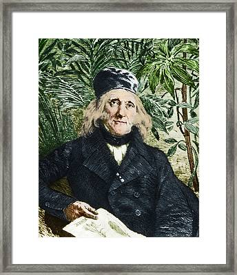Augustin Saint-hilaire, French Botanist Framed Print by Science Source
