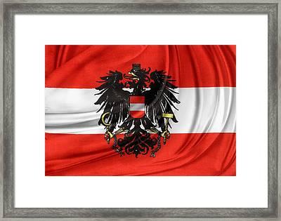 Austrian Flag Framed Print by Les Cunliffe