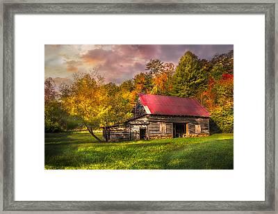 Autumn Beauty Framed Print by Debra and Dave Vanderlaan