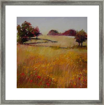 Autumn Field Framed Print by Jeanne Rosier Smith