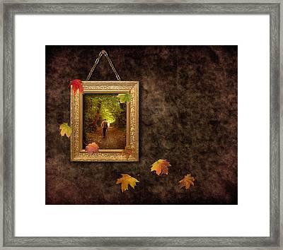 Autumn Frame Framed Print by Amanda Elwell