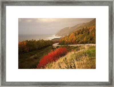 Autumn On The Cabot Trail Framed Print by Michel Soucy