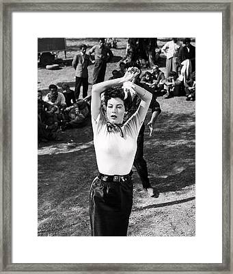 Ava Gardner In The Barefoot Contessa  Framed Print by Silver Screen