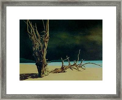 Avant L Orage Framed Print by Guillaume Bruno