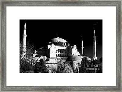 Aya Sofya Framed Print by John Rizzuto
