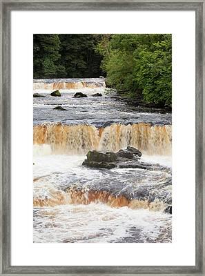 Aysgarth Falls At Aysgarth Framed Print by Ashley Cooper