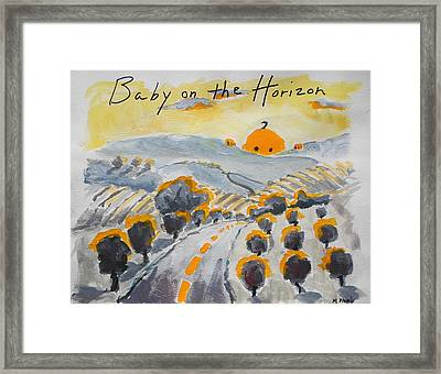 Baby On The Horizon Framed Print by Margaret  Plumb