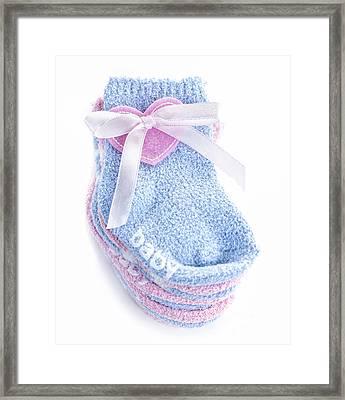 Baby Socks Framed Print by Elena Elisseeva