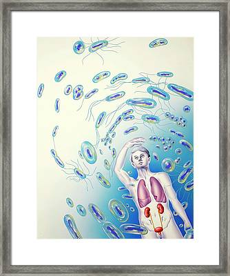 Bacterial Infections Framed Print by John Bavosi