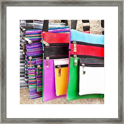 Bags Framed Print by Tom Gowanlock
