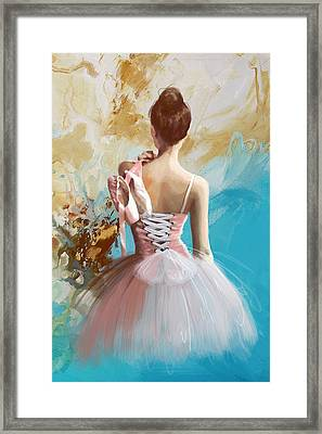 Ballerina's Back Framed Print by Corporate Art Task Force