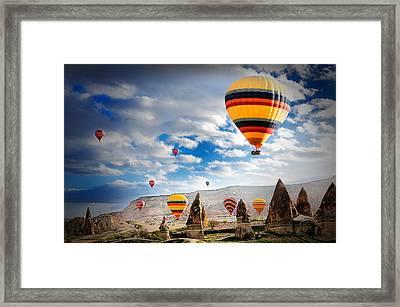 Ballons - 5 Framed Print by Okan YILMAZ