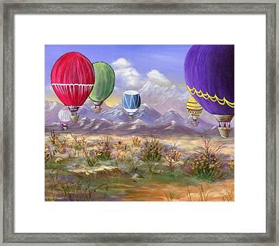 Balloons Framed Print by Jamie Frier