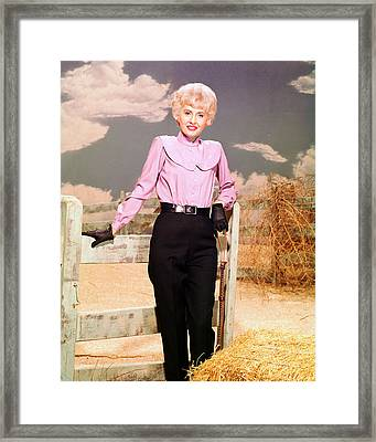Barbara Stanwyck In The Big Valley Framed Print by Silver Screen