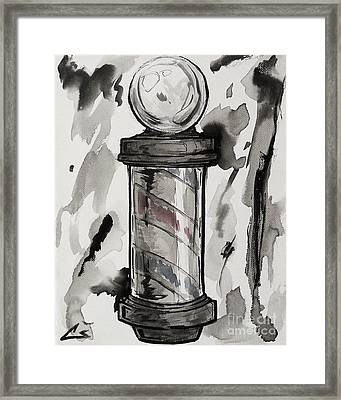Barber Pole Framed Print by Chuck Styles