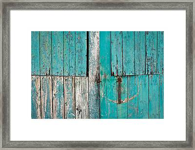 Barn Door Framed Print by Tom Gowanlock