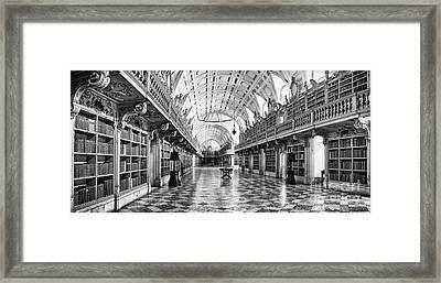 Baroque Library  Framed Print by Jose Elias - Sofia Pereira