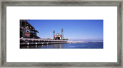 Baseball Park At The Waterfront, At&t Framed Print by Panoramic Images