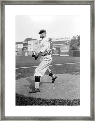 Baseball Star Walter Johnson Framed Print by Underwood Archives