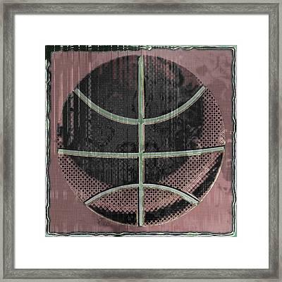 Basketball Abstract Framed Print by David G Paul