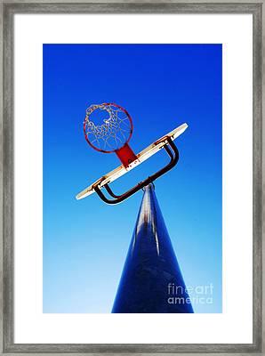 Basketball Hoop Framed Print by Lane Erickson