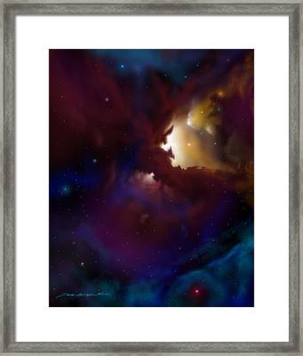 Bat Nebula Framed Print by James Christopher Hill