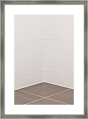 Bathroom Tiles Framed Print by Tom Gowanlock