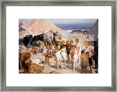 Beach At Coney Island Framed Print by Celestial Images