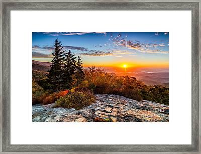 Beacon Heights Sunrise Framed Print by Anthony Heflin