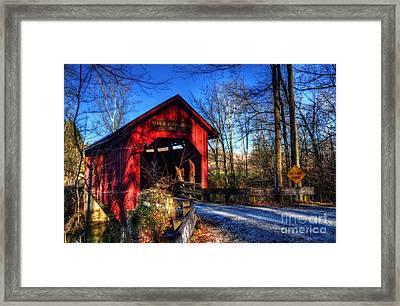 Bean Blossom Bridge Framed Print by Mel Steinhauer
