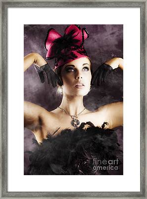Beautiful Cancan Dancer Framed Print by Jorgo Photography - Wall Art Gallery