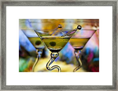 Beautiful Colorful Martini Glasses Framed Print by Judy Kennamer
