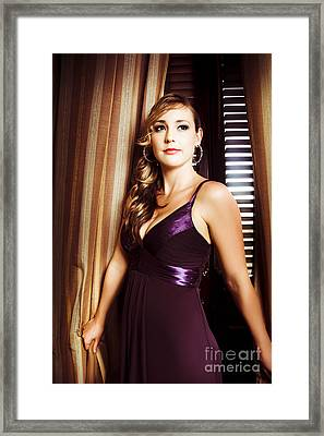 Beautiful Glamour Model Framed Print by Jorgo Photography - Wall Art Gallery