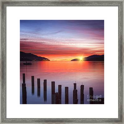 Beautiful Sunrise Framed Print by Colin and Linda McKie