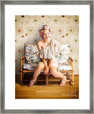 Beautiful Woman Getting New Hair Style At Salon Framed Print by Jorgo Photography - Wall Art Gallery