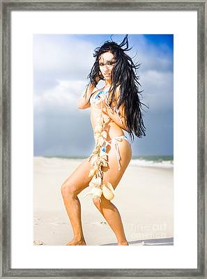 Beauty And The Beach Framed Print by Jorgo Photography - Wall Art Gallery