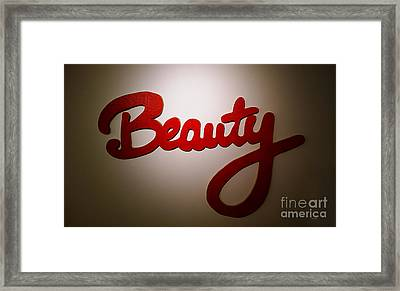 Beauty Framed Print by Cheryl Young