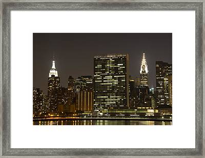 Beauty Of The Night Framed Print by Theodore Jones