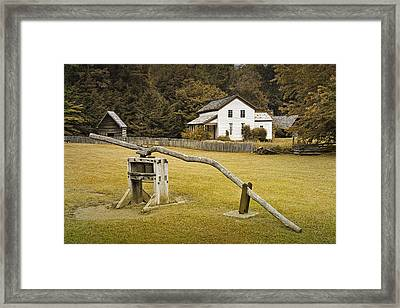 Becky Cable Farm House In Cades Cove Framed Print by Randall Nyhof