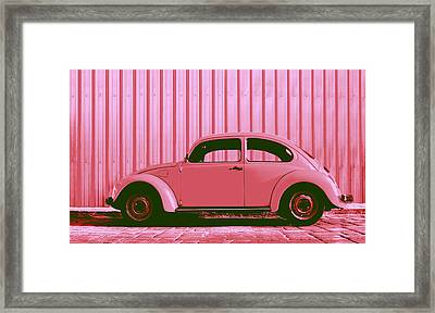 Beetle Pop Pink Framed Print by Laura Fasulo