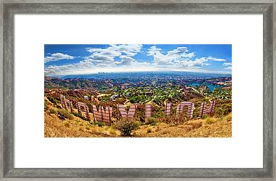 Behind The Hollywood Sign Framed Print by Jeana Childress