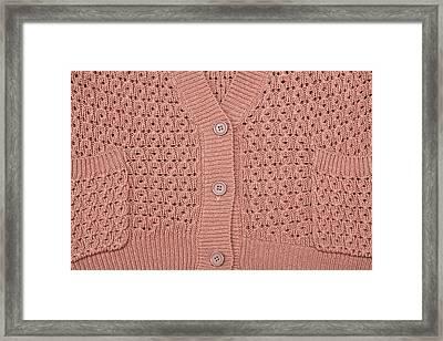 Beige Top Framed Print by Tom Gowanlock