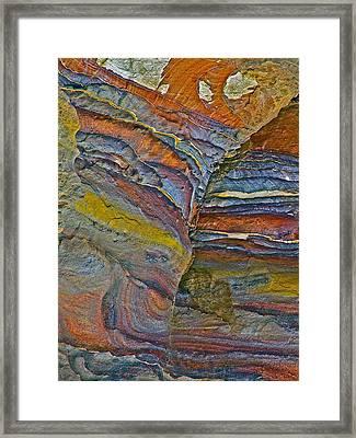 Belly Eyes Rock In Petra-jordan Framed Print by Ruth Hager