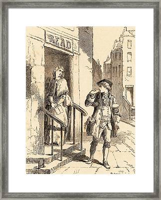 Benjamin Franklin Framed Print by Universal History Archive/uig