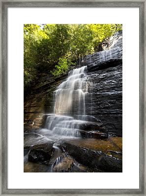 Benton Falls Framed Print by Debra and Dave Vanderlaan