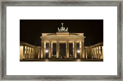 Berlin Brandenburg Gate Framed Print by Frank Tschakert