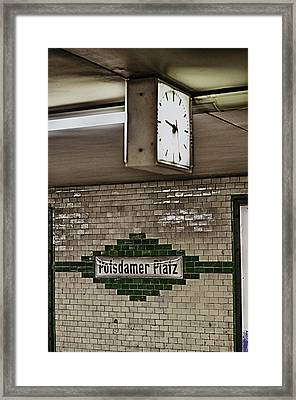 Berlin Subway Station Framed Print by Hans Engbers